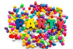 Слово партии в цвете Стоковое Фото
