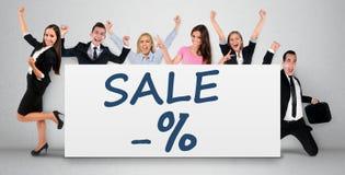 Слово продажи на знамени Стоковая Фотография