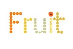 Слово плодоовощ Стоковая Фотография RF