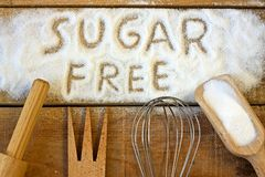 Слово сахара свободное с предпосылкой Стоковое фото RF