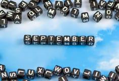 Слово сентябрь Стоковое фото RF
