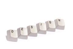 Слово собранное от кнопок кнопочной панели компьютера конструирует изолированный Стоковое Изображение RF