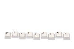 Слово собранное от кнопок кнопочной панели компьютера подписывается изолированный Стоковые Фото