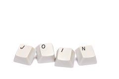 Слово собранное от кнопок кнопочной панели компьютера соединяет изолированный Стоковое Фото