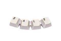 Слово собрало от изолированной продажи кнопок кнопочной панели компьютера Стоковое фото RF
