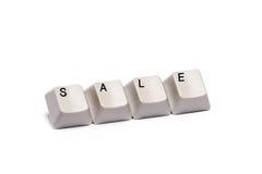 Слово собрало от изолированной продажи кнопок кнопочной панели компьютера Стоковые Изображения RF