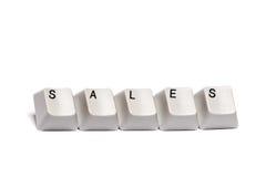 Слово собрало от изолированных продаж кнопок кнопочной панели компьютера Стоковое фото RF