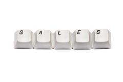 Слово собрало от изолированных продаж кнопок кнопочной панели компьютера Стоковое Изображение