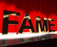 Слово славы на опознавании и быть знаменитости смысла этапа Famou иллюстрация вектора