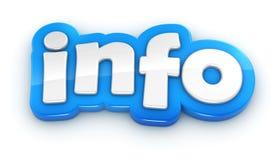 Слово текста информации 3D на белой предпосылке Стоковое Изображение RF