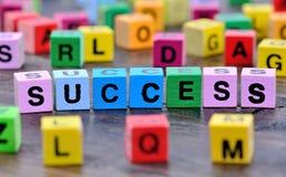 Слово успеха на таблице Стоковая Фотография RF