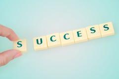 Слово успеха стоковая фотография