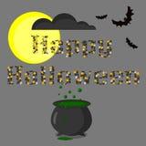 Слово хеллоуина Бесплатная Иллюстрация
