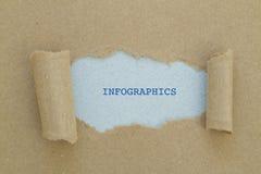 Слово INFOGRAPHICS Стоковые Изображения