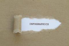 Слово INFOGRAPHICS Стоковое Изображение