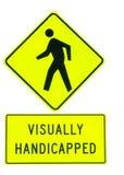 с ограниченными возможностями знак визуально Стоковая Фотография