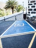 С ограниченными возможностями или неработающее место для парковки Стоковое Изображение RF