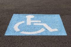 С ограниченными возможностями крупный план парковки Стоковое фото RF