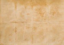Сложенная старая бумага Стоковые Фотографии RF