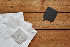 Сложенные бумажные творческие деятельность и пузырь речи Стоковое Фото