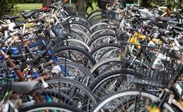 Сложенные велосипеды Стоковые Изображения RF
