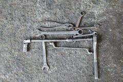 Сложенные инструменты гаечного ключа Стоковые Изображения