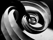 Сложенные кривые бумаги origami стоковые изображения rf