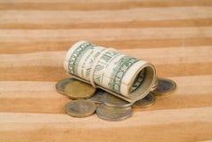 сложенные доллары Стоковое Изображение