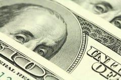 Сложенные счеты 100 долларов предпосылки amerianskih Стоковое Фото
