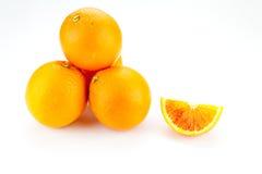 Сложенный вверх апельсин Стоковая Фотография