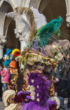 Сложная венецианская маскировка Стоковая Фотография