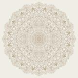 Сложная, детальная мандала - круглый орнамент вектора Стоковое Изображение RF