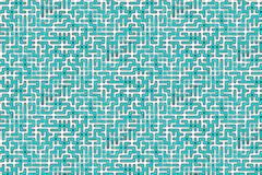 Сложный лабиринт в зеленых и белых цветах Стоковая Фотография