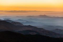 Слои горы, горы Inthanon, Чиангмая Стоковая Фотография RF