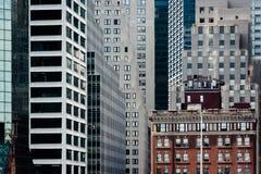 Слои зданий в Манхаттане, Нью-Йорке Стоковое Изображение