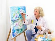 Слои художника в мыть краски Стоковое Фото