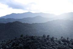 слой гор Стоковое Фото