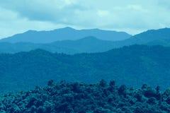 слой гор Стоковые Фотографии RF