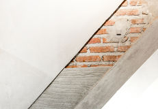 Слой конструкции стена, кирпичная стена, цемент, автоклавировал Aera стоковая фотография