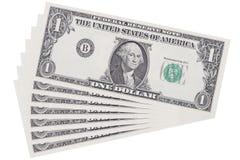 Слой одного доллара изолированного на белизне Стоковые Фотографии RF