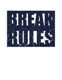 Сломайте правила Мотивационная цитата Стоковая Фотография