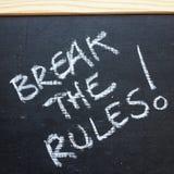Сломайте правила! Стоковые Фотографии RF