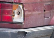 Сломанная автокатастрофа, задним светам Стоковые Фото