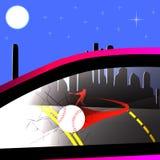Сломанное бейсболом окно автомобиля Стоковые Изображения RF
