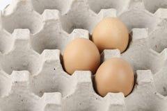 сломанный печь варящ живописание eggs неповрежденный прогресс некоторый поднос Стоковая Фотография