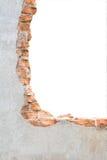сломленная бетонная стена Стоковая Фотография