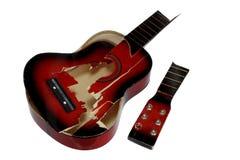 сломленная гитара Стоковая Фотография RF