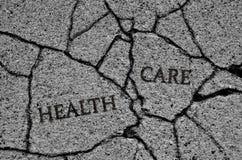 Сломленная или треснутая система здравоохранения Стоковое Изображение RF