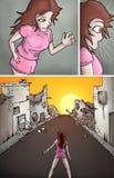 Сломленная иллюстрация улицы иллюстрация штока