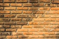 Сломленная кирпичная стена Стоковое Изображение RF